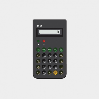 ET 66 calculator, 1987, by Dietrich Lubs for Braun