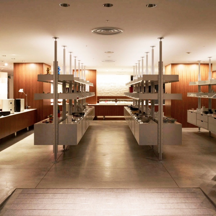 When is shop-fitting not like shop-fitting? When our Japanese friends take the greatest care to create a department store in the heart of Ginza, Tokyo. And when they use the 606 Universal Shelving System