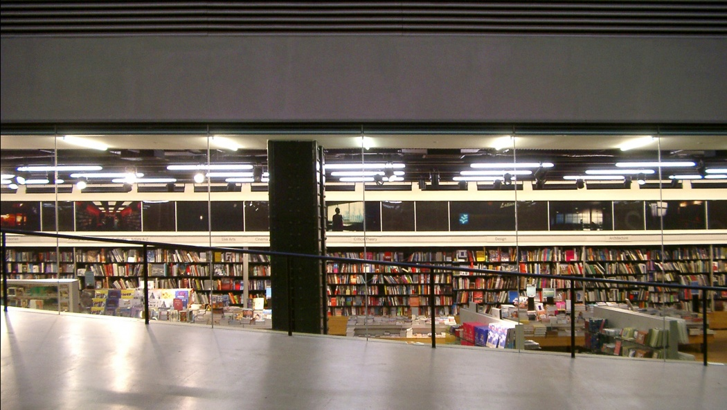 As you descend that famous ramp in London's Tate Modern, the invisible shelves on your left come from a company called 'Vitsœ'