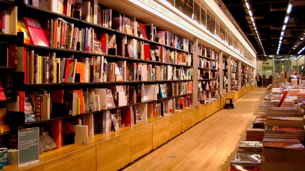 London's Tate Modern bookshop uses hundreds of shelves to display thousands of books