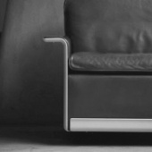 Dieter Rams designs. Armchair, Lounge chair, 620 Chair Programme. Hand made by Vitsœ