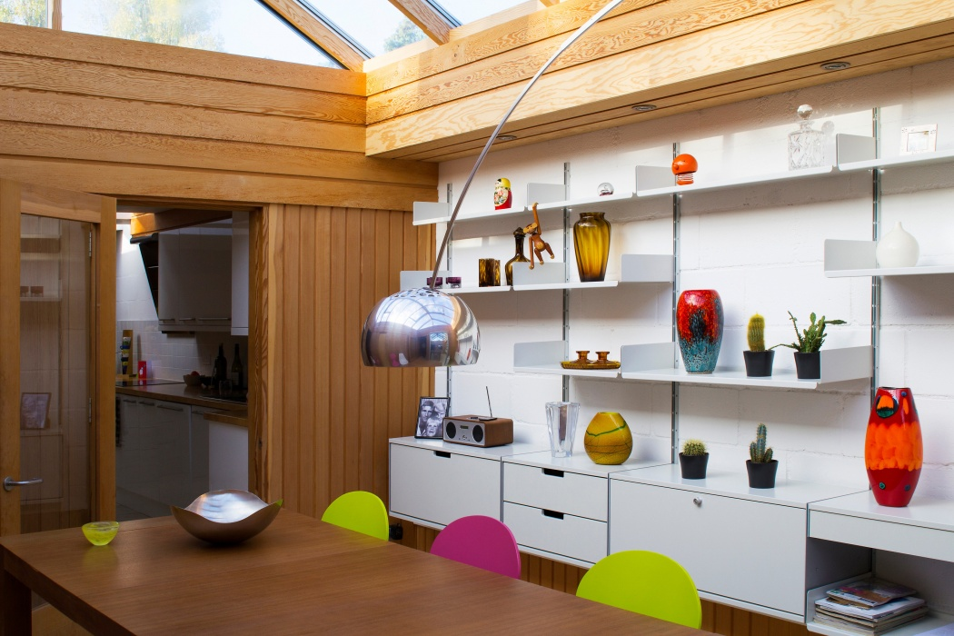 Rams, the Castiglionis, Hansen, Bojesen et al hang out in this colorful kitchen.