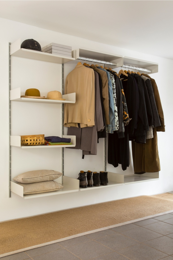 Classic hallway: hanging rails for coats; shelves for shoes and hatsSee more clothing storage in the Bedroom & wardrobe gallery