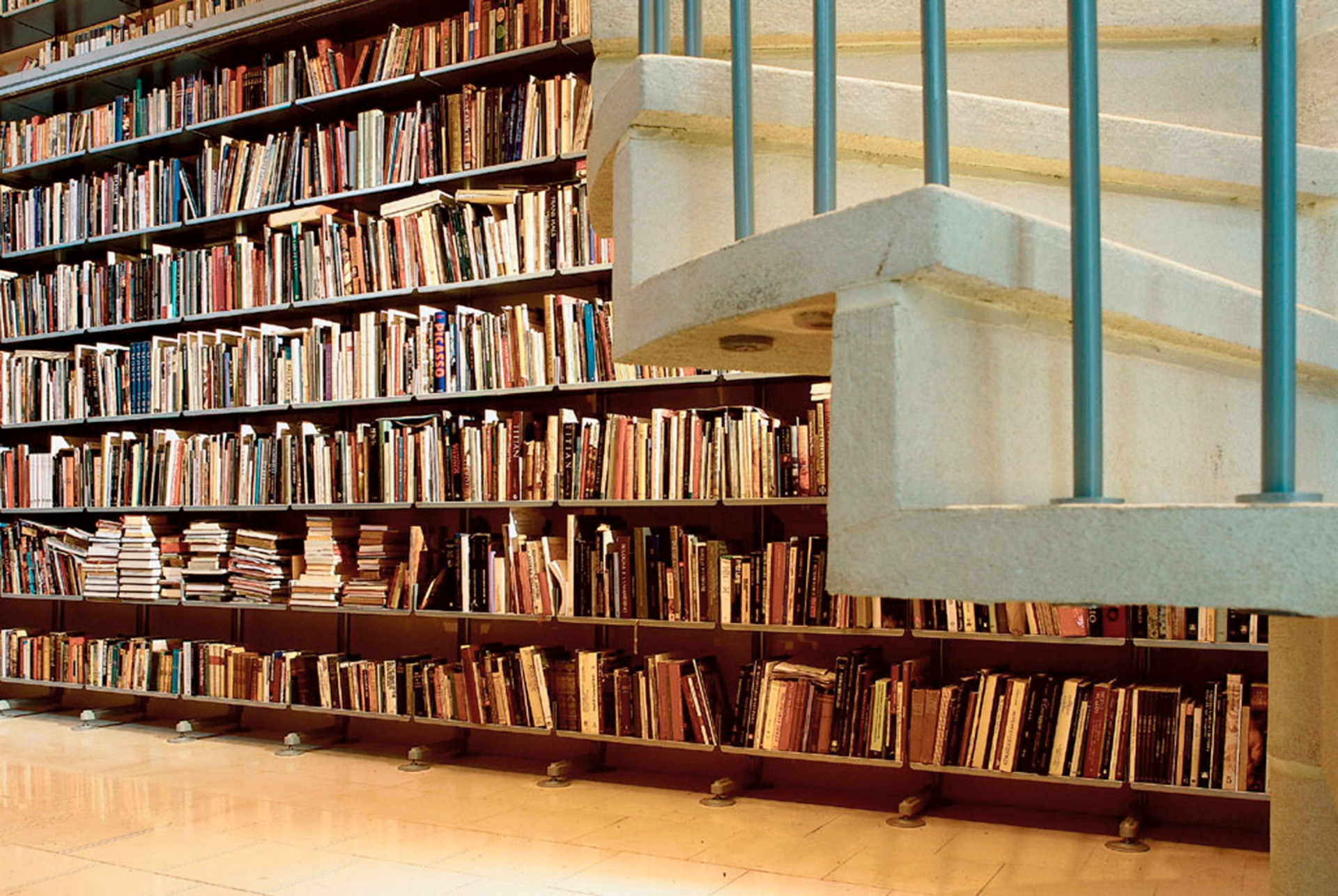 An art-history library is the most demanding: extensive, with large books of substantial weight