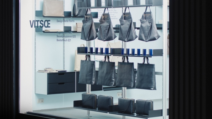 Tsatsas leather bags at Vitsoe in Munich