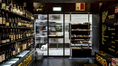 606 Universal Shelving System installed at Sunday's Grocery