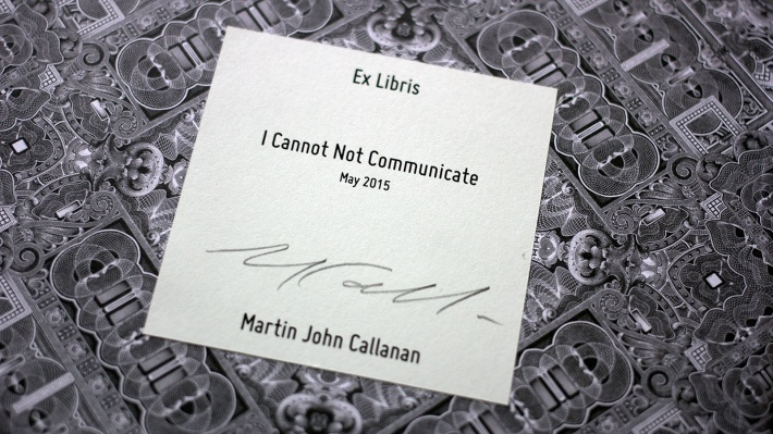 Berlin and UK-based artist, Martin John Callanan, shows a new work at Vitsœ's New York shop.