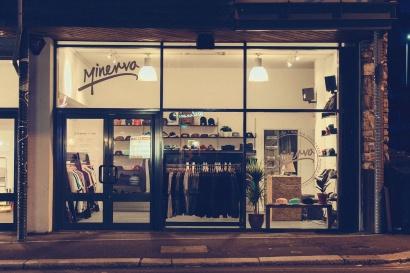 Minerva shop front