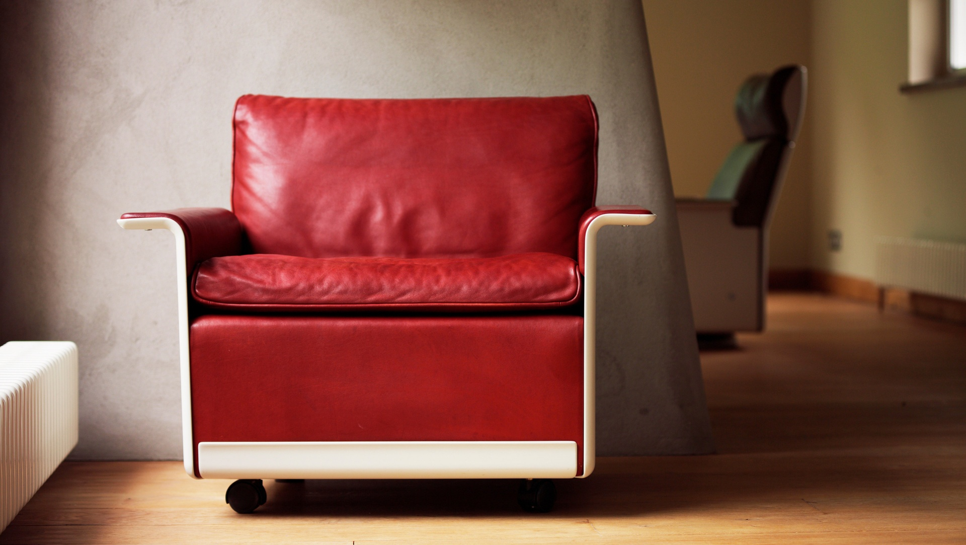 """The sumptuous leather will only improve with age. Neils Vitsoe once said, """"the first mark is a tragedy, the second is a shame, the third will be patina."""" As usual, he was right"""