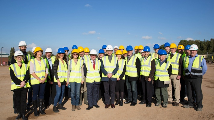 Vitsœ bondholders and supporters on site in Royal Leamington Spa as groundwork began