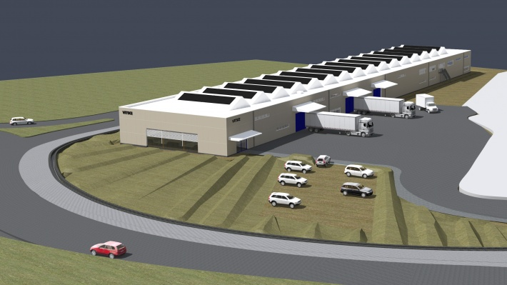Vitsœ visualisation of new production building and HQ in Royal Leamington Spa
