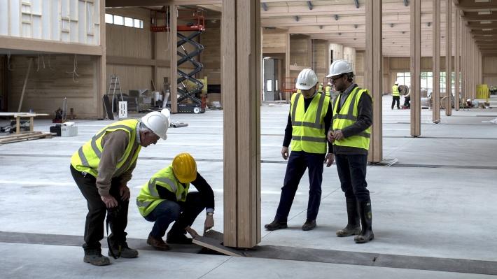 Vitsœ's design team meet on site in Royal Leamington Spa