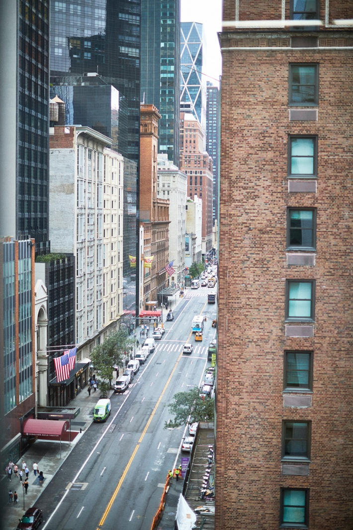 The view from Sue and Alan Ravitz's window in New York