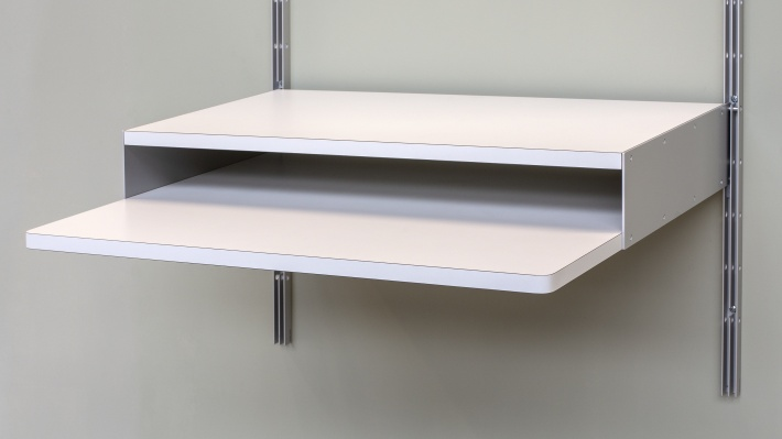 606 universal shelving system, Desk shelf, flipped,