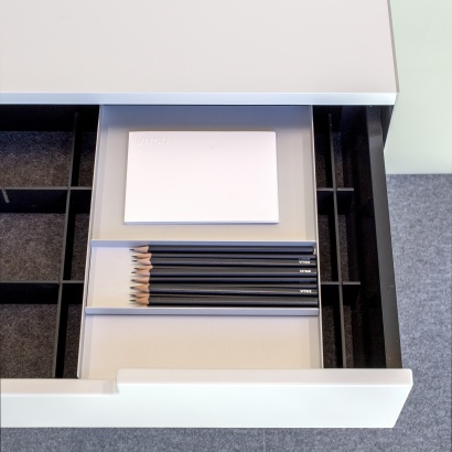 wall mounted cabinet with pencil tray