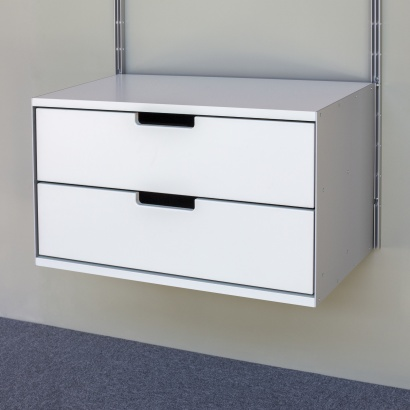 Two drawer, 2d, 606 Cabinet, designed by Dieter Rams