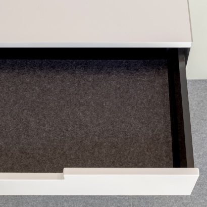 wall mounted cabinet with anti-slide liner accessories