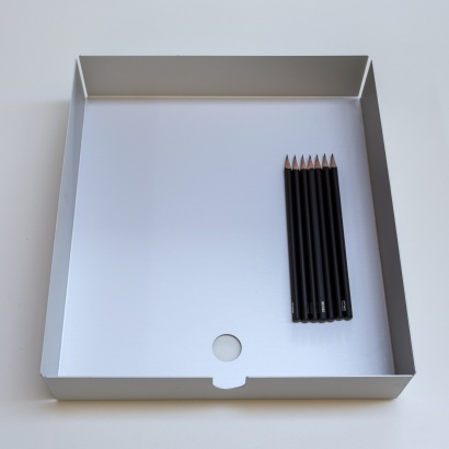 606 Aluminium tray, designed by Dieter Rams