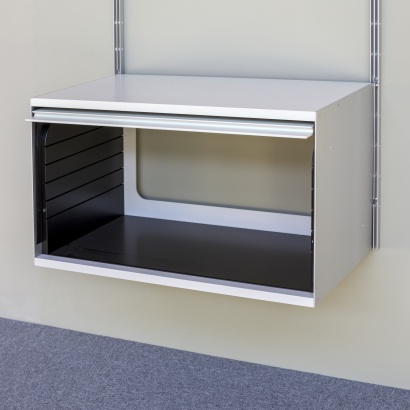 wall mounted cabinet with open back for cables