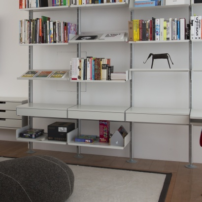 bookshelves and drawer shelf, designer shelves Dieter Rams