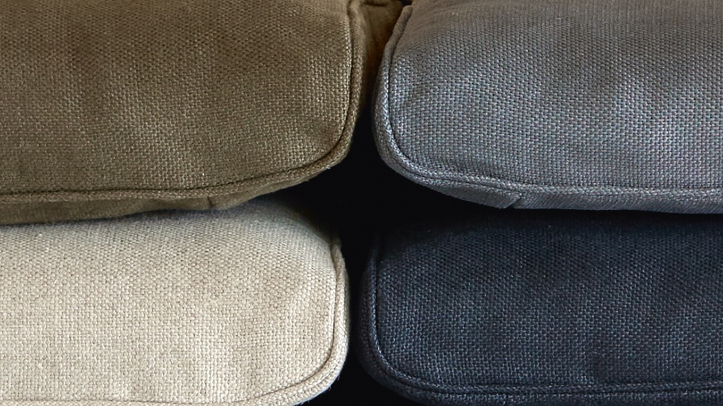 Armchair upholstery options for the designer 620 Chair Programme in Linen. Colours Flax, loden, grey, marine