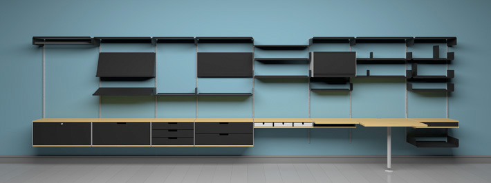 so funktioniert s regalsystem 606 vits. Black Bedroom Furniture Sets. Home Design Ideas